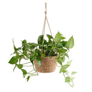 Image 4 - Cesto portaoggetti per piante da giardino corda di iuta appeso fioriera intrecciata per interni allaperto portavaso macramè appendini per piante decorazioni per la casa