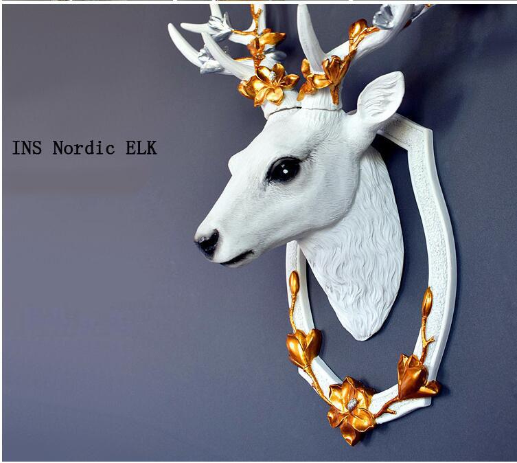 Europese Lucky Hars Herten Hoofd 3D Muursticker Muurschilderingen Decoratie Thuis Woonkamer Achtergrond Muur Ambachten Hotel Muur Ornamenten Art - 6