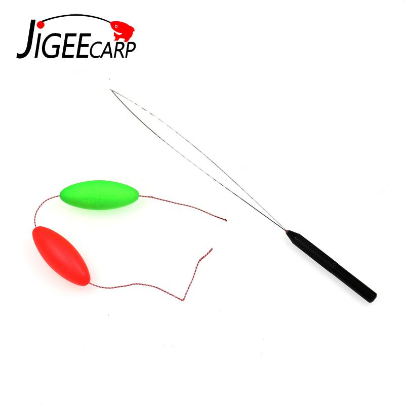 JIGEECARP 1pc Carp Fishing Baiting Needle Fishing Threading Device Line Pulling Threading Needles Rig Making Threder Drill Tools