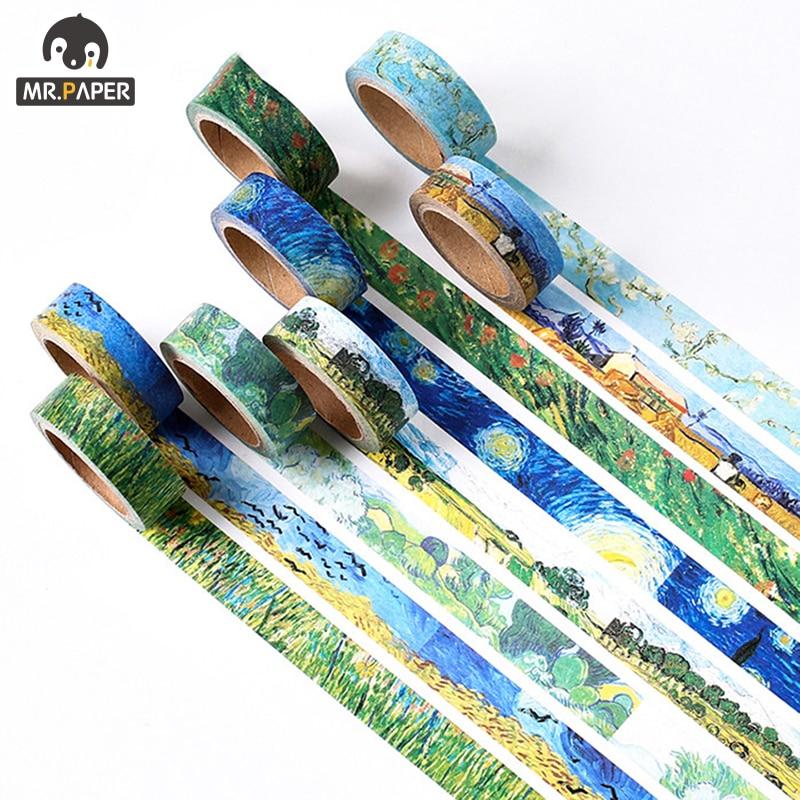 Mr.Paper  Design Natural View Japan Plant Bullet Journaling Washi Tape Scrapbook Album Gadget Set Deco Masking Tapes Child Gift