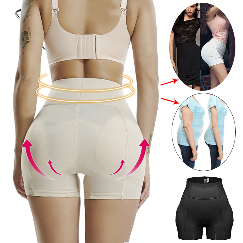Image 2 - Women High Waist FAKE ASS Invisible Seamless Tummy Control Panties Shapewear Hip Enhancer Booty Padded Butt Lifter Pants Shaper-in Control Panties from Underwear & Sleepwears on AliExpress