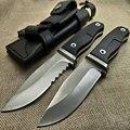 Острый нож с фиксированным лезвием 60HRC Лезвие G10 Ручка Ножи для кемпинга выживания охотничий карманный нож тактический нож инструменты + кож...