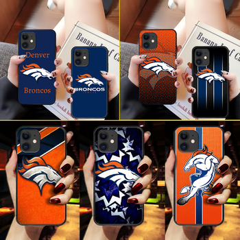American Football Denver Bronco Phone Case Cover Hull For iphone 5 5s se 2 6 6s 7 8 11 12 mini plus X XS XR PRO MAX black Etui image