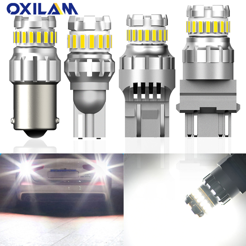 OXILAM 2x BA15S P21W W21W <font><b>Led</b></font> Canbus T20 7440 3157 <font><b>LED</b></font> Car Reverse <font><b>Lights</b></font> For <font><b>VW</b></font> <font><b>Passat</b></font> B6 <font><b>B5</b></font> T5 Golf 4 7 5 Polo Touran T4 Caddy image