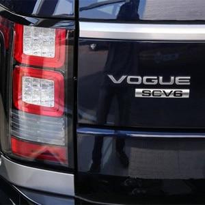 Image 5 - L SDV8 SCV6 Emblem Letter Bar For Range Rover VOGUE VOGUESE Extended Executive Edition Car Side edge Badge Trunk Styling Sticker