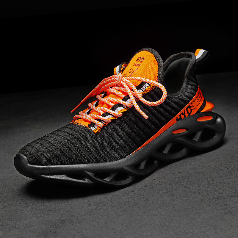 H4fb1e43f21a74c7591a52f8215b9777cK Summer Trend Style Men's Casual Shoes 2019 New Fashion Breathable Mesh Light Personality Sneakers Flying Weaving Tenis Masculino