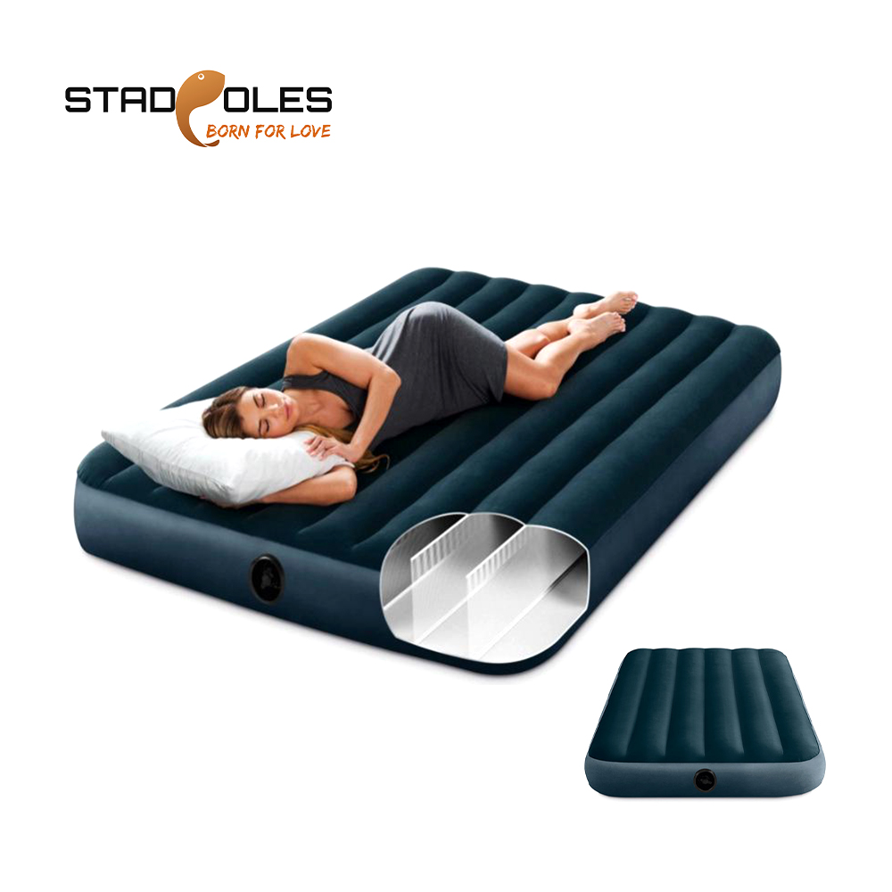 Single Double Person Camping Air Bed Mat Outdoor Inflatable Mattress Light Portable Tent Sleeping Bag Moisture-proof Pad Adult