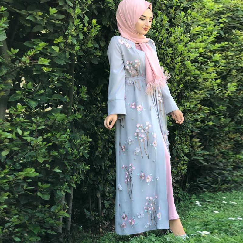 Abaya 기모노 이슬람 카디건 Hijab 드레스 터키 이슬람 의류 Abayas 여성용 Caftan Dubai Kaftan Oman Robe Djelaba Femme