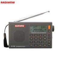 RADIWOW R-108 Radio Digital portátil Radio FM estéreo/LW/SW/MW/aire/receptor DSP con LCD/sonido de alta calidad para interior y exterior