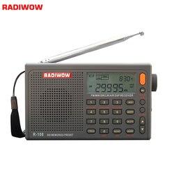 Radiwow R-108 Digitale Tragbare Radio Stereo FM/LW/SW/MW/AIR/DSP mit LCD/ hohe qualität sound Alarm funktion für indoor outdoor