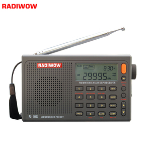 Radiwow R-108 FM Stereo Digital Portable Radio Sound Alarm Function Display Clock Temperature Speaker can as Parent/Friend gift(China)