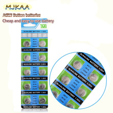 цена на MJKAA 10pcs AG13 For Watch Toys Remote LR44 A76 SR1154 LR1154 Cell Coin Alkaline Battery 1.55V G13  357 Button Batteries