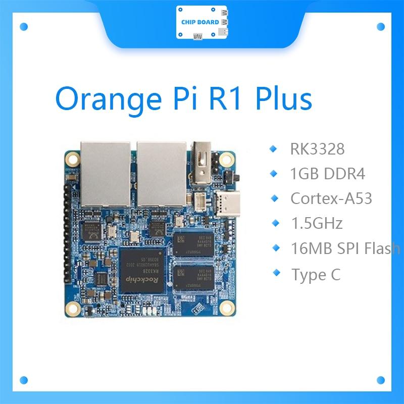 Новый портативный дорожный роутер Orange Pi R1 Plus, SBC OpenWRT с двойным GbE,1 Гб Rockchip RK3328, Поддержка Android 9/Ubuntu/Debian OS