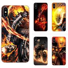 Crânio motocicleta Pintura TPU Da Pele Para A Apple iPhone 4 4S 5 5C 5S SE 6 6S 7 8 Plus X XS Max XR(China)