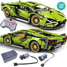 Expert Super Sport samochodowe klocki budowlane prędkość słynny Model pojazdu cegły zabawki urodziny prezent na boże narodzenie dla chłopaka