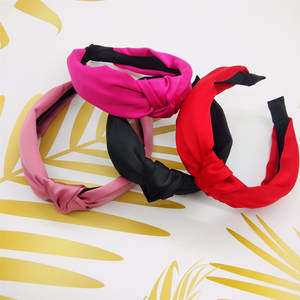 Women Hairbands Hair-Accessories Knot Elegant Girl's Lady's Solid Wide Ins
