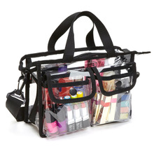 Fashion transparent one shoulder cosmetic bag EVA waterproof travel Beach pouch organizer Wash bag toiletry beauty case