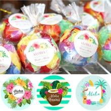 Decorações de festa havaianas adesivos tropical abacaxi flamingo aloha etiqueta etiquetas luau festa de aniversário do verão decoração suprimentos