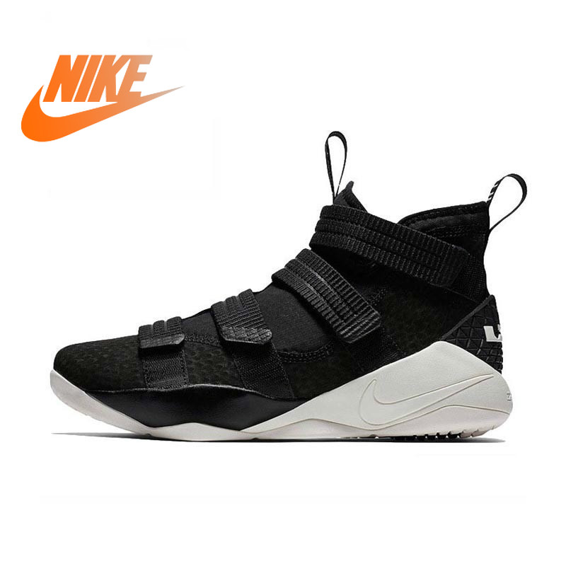 Original Authentic Nike LEBRON SOLDIER 11 Men's Basketball Shoes Outdoor Sports Shoes Wear Comfortable New Products 897647-005 43