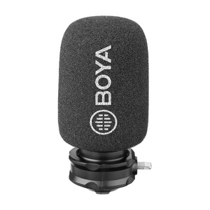 Image 2 - BOYA BY DM200 Professionelle Stereo Kondensator Mikrofon Mic w Blitz Eingang für iPhone 8x7 7 plus iPad iPod Touch etc Schrotflinte