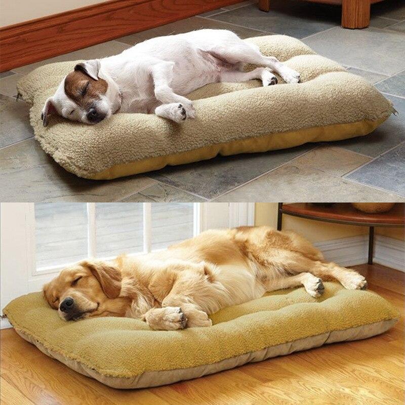 Pet Canil Cobertor Coaster Almofada Extra-grande Grosso Inverno Quente Cama Do Cão de Pelúcia Cães de Grande Porte Apenas Lavável