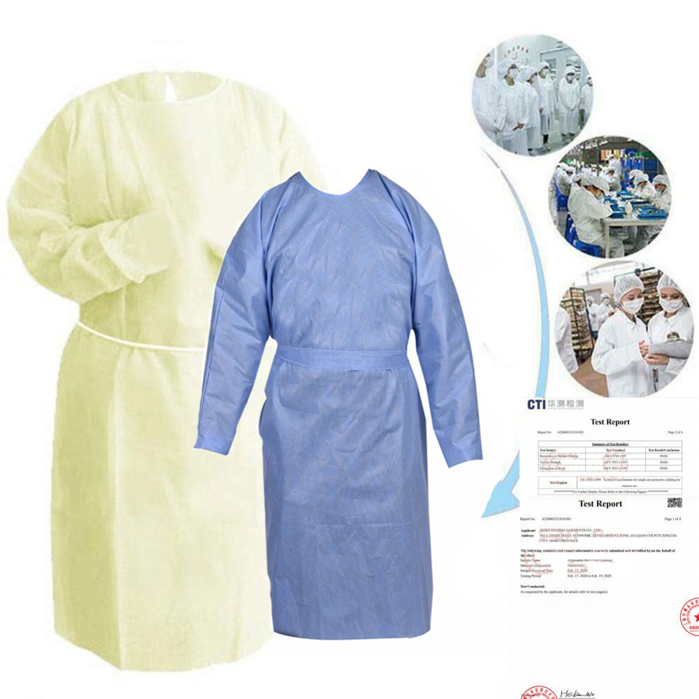 Safety Protective Suit Disposable Dust Proof Coverall Suit Non-Woven Fabric Protective Suit Free Size Breathable Protective Suit