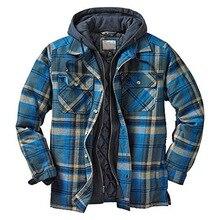 Men's Clothing Jackets Plaid Fake Sweatshirt Coats Sports Winter Fashion Casual Two-Pieces