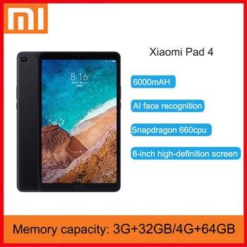 Xiaomi Tableta Original Mi Pad 4, 32GB/64GB, CPU Snapdragon 660 AIE, pantalla 16:10 de 8,0 pulgadas, cámara de 13MP, Bluetooth 5,0, batería de 6000mAh Tabletas    -