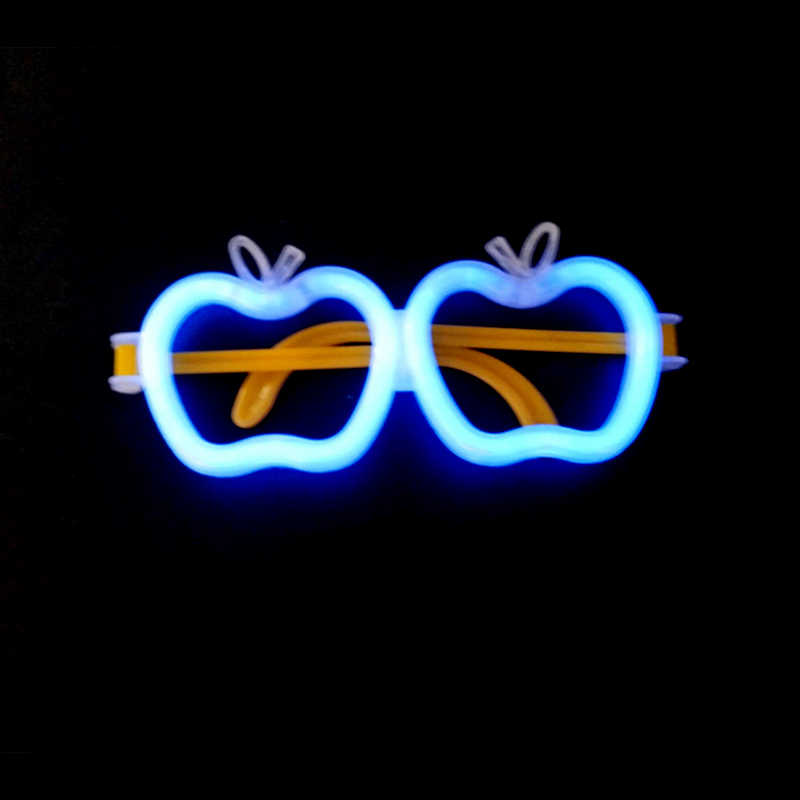 Luminoso Bastone Bastone di Fluorescenza Bagliore di Luce Spiedi FAI DA TE Farfalla Modello Giocattolo Accessori Del Partito di Festival di Forniture Modello Della Fascia Occhiali