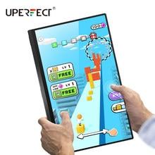 UPERFECT przenośny Monitor ulepszony 15.6 Cal IPS HDR 3840x2160 4K pielęgnacja oczu ekran monitory do gier podwójny głośnik Monitor do komputera