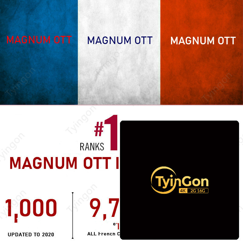 TyinGon android tv box support Magnum OTT French <font><b>Belgium</b></font> IPTV European iptv image