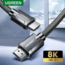 Ugreen HDMI Cable 2,1 8K/60Hz 4K/120Hz 48Gbps Digital HDMI Cable para Xiaomi Mi caja de PS5 PS4 conmutador HDMI Splitter Video Cabo