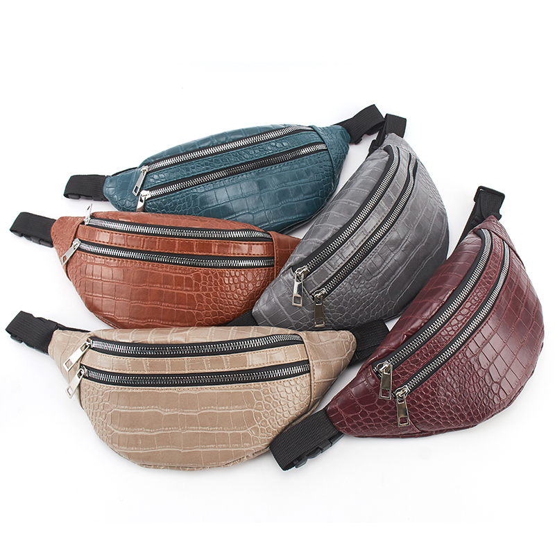 belt bag waist packs for women designer brand Luxury bag High Quality crocodile women PU leather bag Fanny Pack message bag