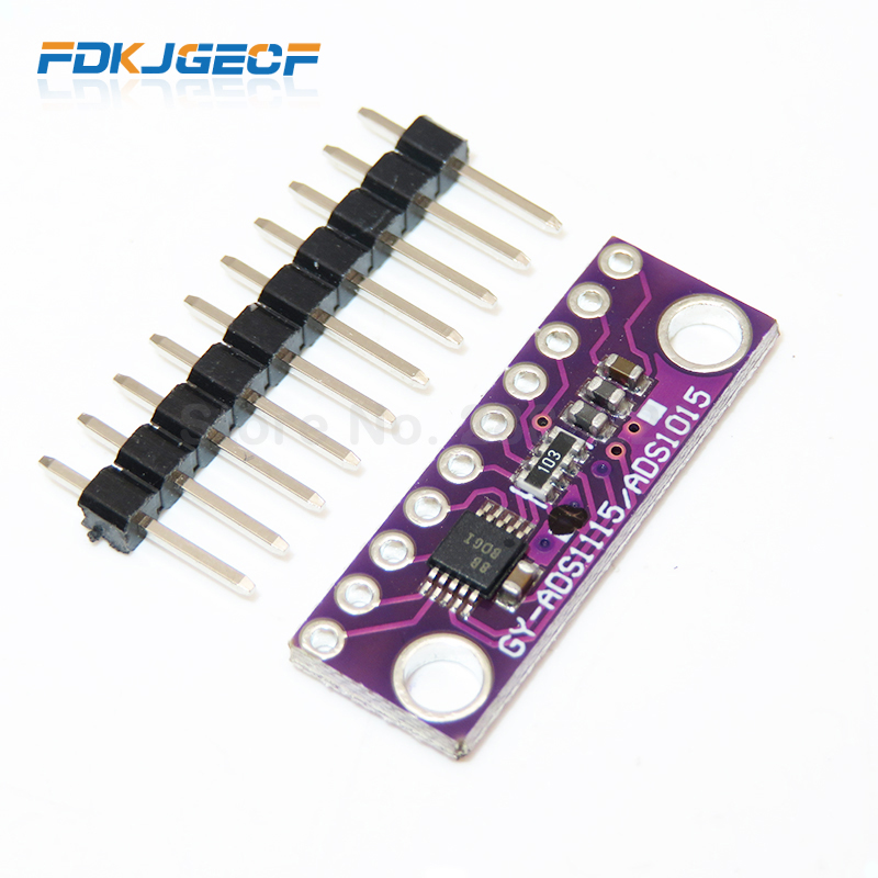10pcs I2C <font><b>ADS1115</b></font> <font><b>16</b></font> <font><b>Bit</b></font> <font><b>ADC</b></font> 4 channel <font><b>Module</b></font> with Programmable Gain Amplifier 2.0V to 5.5V for Arduino RPi image