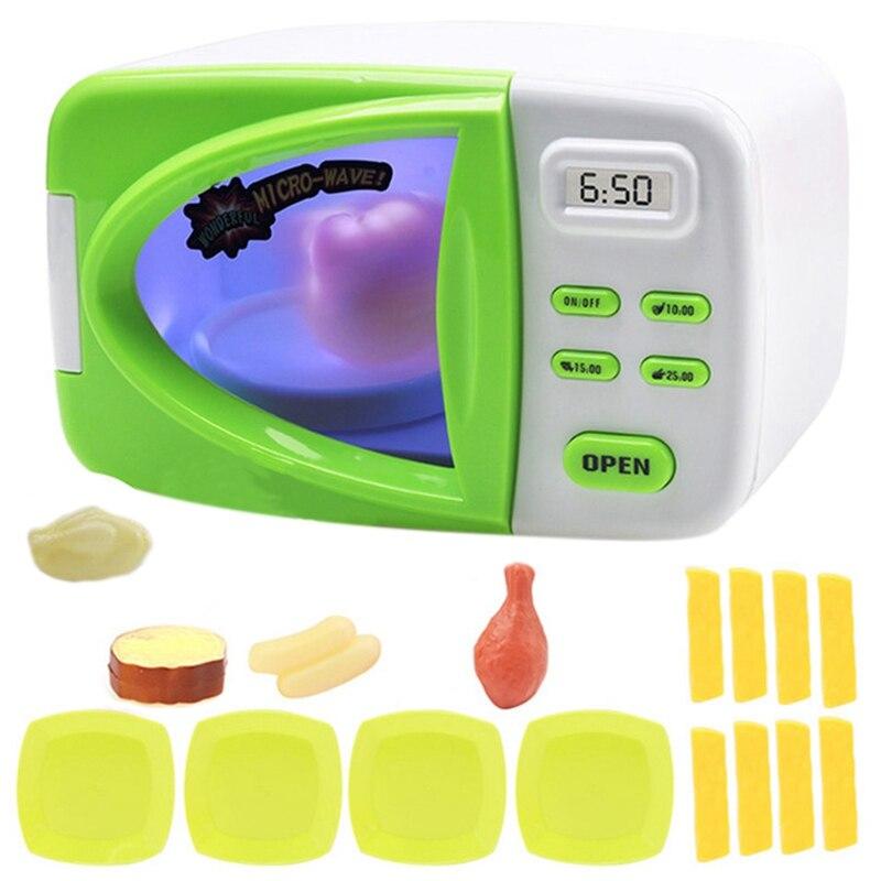 1 Набор, игрушки для моделирования микроволновой печи, игрушки для развлечения, игрушки для ролевых игр, набор для микроволновой печи с