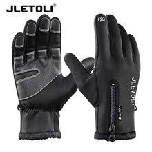 JLETOLI Winter Cycling Gloves Full Finger Waterproof Touch Screen Bicycle Gloves Men Women Anti-slip Windproof Sport Bike Gloves цены онлайн