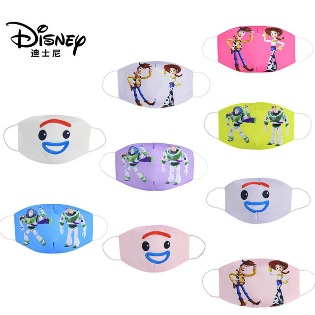 Disney Toy Story Buzz Lightyear Woody Jessie Children's Face Maks Reusable Breathable Protective Kid Cartoon Mouth Face Maks