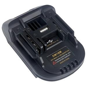 Image 5 - Адаптер литий ионного зарядного устройства Dm18M для батарей Milwaukee Makita Bl1830 Bl1850, с преобразованием батареи в 18 в, от 5 до 18 в