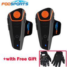 Fodsports BT-S2 Pro motorcycle intercom 1000m moto helmet headset Waterproof IPX6 BT Interphone FM Type C interface interphone