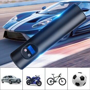 AUDEW 12 В 150 фунтов/кв. дюйм Электрический воздушный насос портативный мини-насос для шин зарядка через usb велосипед Велоспорт мотоцикл с свето...