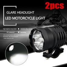 2 шт. светодиодный фонарь для мотоцикла, противотуманная фара с выключателем 6000LMW светодиодный налобный фонарь 6000 k-6500 k стеклянная крышка из алюминиевого сплава
