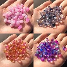20 pz/lotto 9x6mm forma di goccia d'acqua vetro ceco cristallo Lampwork distanziatore perline per gioielli che fanno orecchini fai da te accessori braccialetto