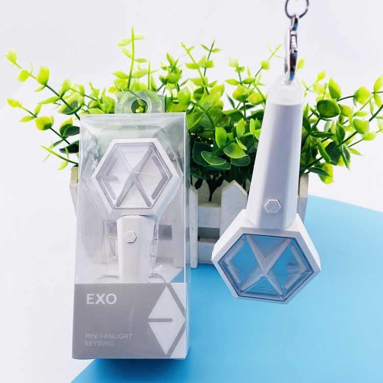 Kpop EXO Mini Dính Móc Khóa Treo Phụ Kiện Mặt Dây Chuyền Keychian Vòng Hỗ Trợ Huỳnh Quang Dính Buổi Hòa Nhạc Kpop EXO