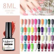Mobray 80 цветов гель для ногтей модный блеск 8 мл отмачиваемый УФ-гель для ногтей лак для ногтей Блестящий голографический лак для ногтей Дизай...