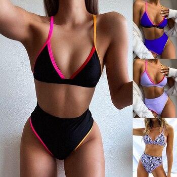 High Waist Bikinis Women Two Piece Swimwear Brazilian Bikini Set Sexy Summer Swimsuit for Women Beachwear Bathing Suit Biquini solid bikini female swimsuit high waist swimwear women 2020 bikini set two pieces swimsuit bathing suit beachwear vest biquini