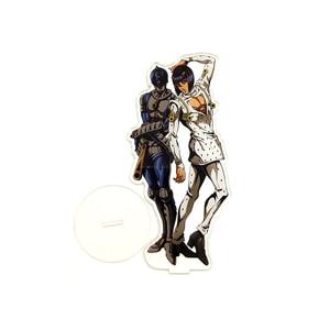 Image 5 - JOJO JOJO של ביזארי הרפתקאות זהב רוח Giorno Giova ברונו Bucciarati HF אקריליק stand איור דגם צלחת מחזיק עוגת טופר