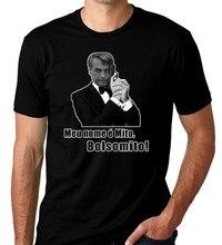 Bolsonaro 007 meu nome mito bolsomito engraçado preto camiseta manga curta mais tamanho camiseta cor jurney impressão t camisa harajuku