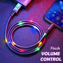 Type C LED Cable Light Flash USB C cable SR Data Sync dancing cable Smart volume Control Stream light fast Charging cables chauvet dj data stream 4