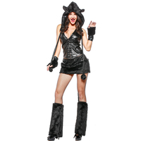 Sexy Black Cat Girl Character Acting Costume New Halloween Party Performance Costume Theatre Stage Costume Clothes Summer Dress