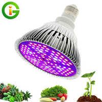 LED Grow Light Full Spectrum 10W/ 30W/ 50W/ 80W E27 UV IR LED Growing Bulb for Indoor Hydroponics Flowers Plants LED Growth Lamp